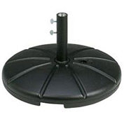 Grosfillex® Resin Outdoor Umbrella Base With Filling Cap, Black