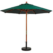 Grosfillex® 7' Wooden Market Outdoor Umbrella, Green