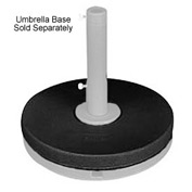 Grosfillex® 35 Lb. Extra Table Umbrella Base Ring, Black - Pkg Qty 2