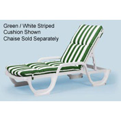 Grosfillex® Chaise Cushion With Hood - Green - Pkg Qty 6