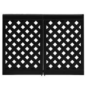Grosfillex Portable Resin Outdoor Patio Fence, 2-Panel Section Black
