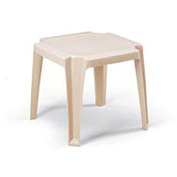 Grosfillex® Stacking Outdoor End Table - Sand - Pkg Qty 6