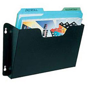Steel Wall File Pockets Letter Size - Black