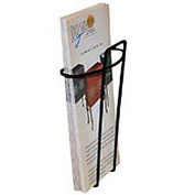 Wire Brochure Holder Black 1 Pocket