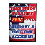 Digital Safety Scoreboard Sign - Take Pride in Safety...