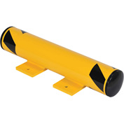 "Steel Floor Stop Bollard With Removable Rubber Caps 24""L x 4-1/2"" Diameter"