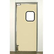 "Aleco® 3'0"" x 8'0"" Single Panel Light Duty Beige Impact Door 431095"