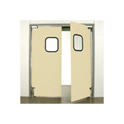 "Aleco® 7'0"" x 8'0"" Twin Panel Light Duty Beige Impact Door 431100"
