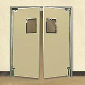"Aleco® 6'0"" x 7'0"" Twin Panel Medium Duty Beige Impact Door 432040"