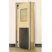 "Aleco® 3'0"" x 7'0"" Single Panel Heavy Duty Beige Impact Door 435022"
