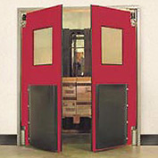"Aleco® 5'0"" x 7'0"" Twin Panel Heavy Duty Red Impact Door 435031"