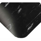 "Antimicrobial Tile Top Antifatigue Mat 7/8"" Thick 4 Ft Wide Full 60ft Black"