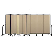 "Screenflex Portable Room Divider 9 Panel, 6'H x 16'9""L, Vinyl Color: Oatmeal"