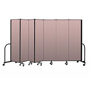 "Screenflex Portable Room Divider 7 Panel, 6'8""H x 13'1""L, Vinyl Color: Mauve"