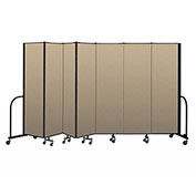 "Screenflex Portable Room Divider 7 Panel, 6'8""H x 13'1""L, Vinyl Color: Oatmeal"