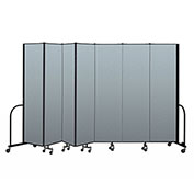 "Screenflex Portable Room Divider 7 Panel, 7'4""H x 13'1""L, Vinyl Color: Blue"