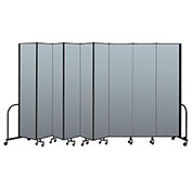 "Screenflex Portable Room Divider 9 Panel, 8'H x 16'9""L, Vinyl Color: Blue"