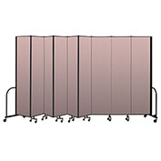 "Screenflex Portable Room Divider 9 Panel, 8'H x 16'9""L, Vinyl Color: Mauve"