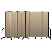 "Screenflex Portable Room Divider 9 Panel, 8'H x 16'9""L, Vinyl Color: Oatmeal"