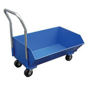 Vestil Low Profile Steel Hopper SLPT-33 1/3 Cu. Yd. 1000 Lb. Cap.