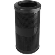 Perforated Stadium Series® Trash Container - 10 Gallon Black