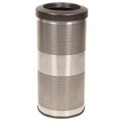 Perforated Stadium Series® Trash Container - 10 Gallon Stainless Steel
