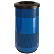 Perforated Stadium Series® Trash Container - 20 Gallon Blue