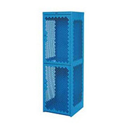 Pucel Heavy Duty Extra Wide Vented Steel Locker Single Tier 24x24x74 1 Door Blue