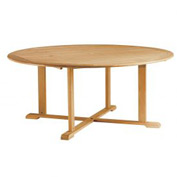 "Oxford Garden® 67"" Round Outdoor Dining Table - Teak"