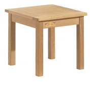 "Oxford Garden® 18"" Square Outdoor End Table - Teak"