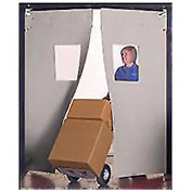 "Aleco® 6' x 7' x 0.25"" Twin Panel Gray Flexible Impact Traffic Door 436012"