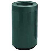 Fiberglass Waste Receptacle with Open Top - 18 Gallon Capacity Green