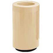 Fiberglass Waste Receptacle with Open Top - 45 Gallon Capacity Tan