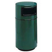 Fiberglass Trash Container with Dome Top - 32 Gallon Capacity Green