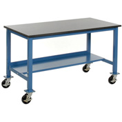 60 x 36 Phenolic Resin Safety Edge Mobile Lab Bench