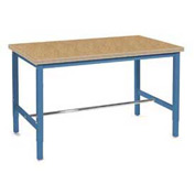 "96""W x 30""D Production Workbench - Shop Top Square Edge - Blue"
