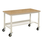 "60""W x 30""D Mobile Workbench - Shop Top Safety Edge - Tan"