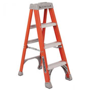 Louisville 4' Fiberglass Step Ladder - 300 lb Cap. - FS1504.