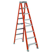Louisville 8' Fiberglass Step Ladder - 300 lb Cap. - FS150-8