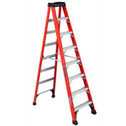 Louisville 8' Fiberglass Step Ladder - 375 lb Cap. - FS1408HD