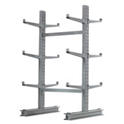 "Cantilever Rack Double Sided, Starter Unit Medium Duty, 48"" W  x 54"" D x 6'H, 16200 Lbs Capacity"