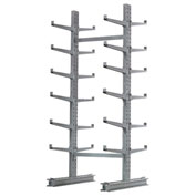 "Cantilever Rack Double Sided, Starter Unit Medium Duty, 72"" W  x 78"" D 10' H, 7600 Lbs Capacity"