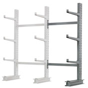 "Cantilever Rack Single Sided, Add-On Unit Medium Duty, 48"" W  x 33"" D x 6' H, 8100 Lbs Capacity"