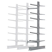 "Cantilever Rack Double Sided Add-On Unit Heavy Duty, 48"" W  x 59"" D x 8' H, 26600 Lbs. Capacity"