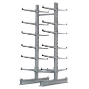 "Cantilever Rack Double Sided Starter Unit Heavy Duty, 72"" W  x 83"" D x 10'H, 20600 Lbs Capacity"