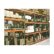 "Pallet Rack Netting Two Bay, 246""W x 120""H, 1-3/4"" Sq. Mesh, 1250 lb Rating"