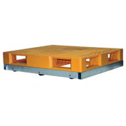 "Vestil Pallet Dolly DOL-3636-6T 36""L x 36""W 4000 Lb. Capacity with Tilt Rollers"