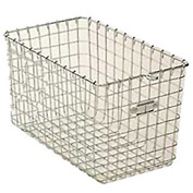 "Steel 9621 Wire Locker Basket 9""W"