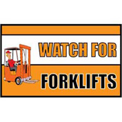 Banner, Watch for Forklifts, 3ft x 5ft