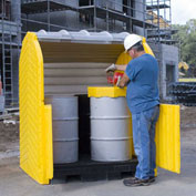 Ultra-Hard Top P4 Plus® 4 Drum Outdoor Spill Containment Unit without Drain - 9636